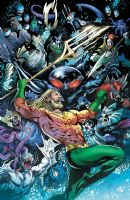 Aquaman #42 - Drown Earth Tie-In